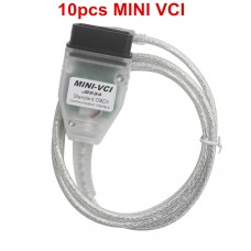 10pcs Cheap MINI VCI V13.00.022 Single Cable For Toyota