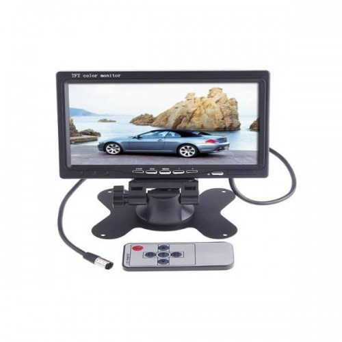"7"" TFT LCD Color Car Rearview Headrest Monitor DVD VCR On Sale"
