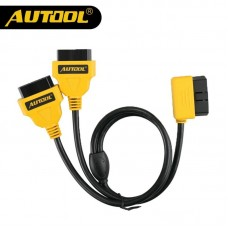 AUTOOL 150cm Universal 1 to 2 16pin OBD2 Cable Connector OBDII 16pin Male to Female Splitter Extension Cable