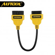 AUTOOL 30cm OBD2 Extend Cable Car Connector 16Pin Male to Female Extension Wire OBDII OBD2 Diagnostic Connector Adapter Cables