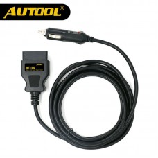 AUTOOL BT-50 OBD2 Vehicle ECU Emergency Power For 12V DC Power Source Supply Cable Memory Saver ECU Power Interface/Connector