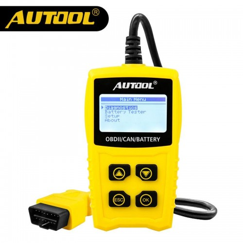 AUTOOL CS330 Smart Code Reader for OBDII/EOBD/CAN 12V Car I/M Readiness Diagnostic Tool Automotive DTC Retrieves Generic Scanner