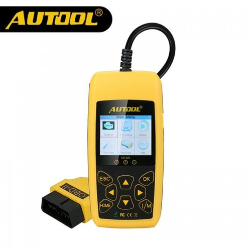 AUTOOL CS520 Auto CAN-BUS Code Reader Real-Time Live-Data DIY  OBD Car Diagnostic Scan Tool