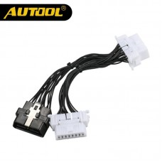AUTOOL OBD2 Extension Cable One 16Pin Male to Male/Female Spliter Adapter Wire OBDII Car Diagnostic Connector Cables Cords