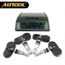 AUTOOL TN400 Wireless Solar Pannel Car Tire TPMS System Monitor Auto Tyre Pneumatic Pressure Monitoring with 4 Internal Sensors