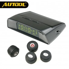 AUTOOL TW400 Smart Car TPMS Tyre Pressure Monitoring System Wireless Alarm Monitor Solar Power Charging Auto TPMS Security Alarm