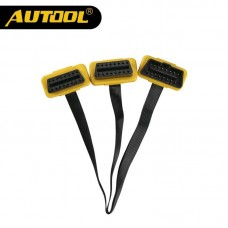 AUTOOL Universal 1 to 2 Split Cord 16pin OBD2 Cable Connector OBDII 16pin Male to Female Splitter Adapter Extension Flat Cable