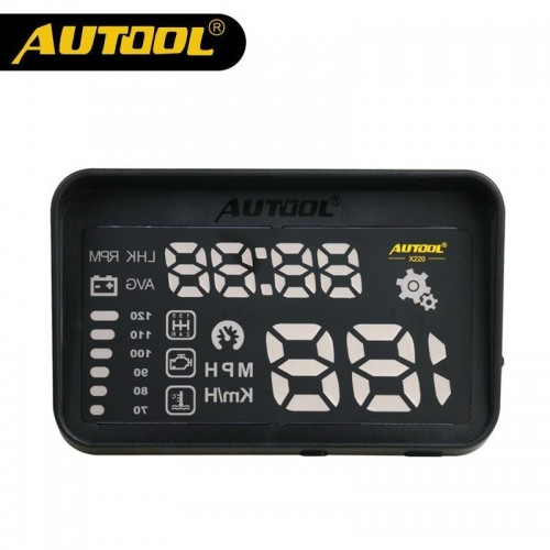 AUTOOL X220 HUD Display Car Head UP Auto OBD Speedometer Projector Displej Heads OBD2 OBD II Vehicle Speeding Warning Hood Clear
