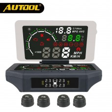 AUTOOL X360 3-IN-1 Car HUD Head Up Display AUTO OBD 2 Smart HUD Holder Mount With TPMS Monitor KMH/MPH Car Display Panel