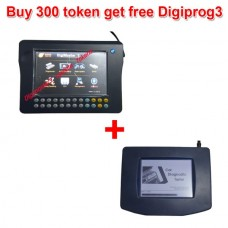 Save 50USD buy Digimaster3 300 Tokens plus Digiprog 3 main unit/OBD cable