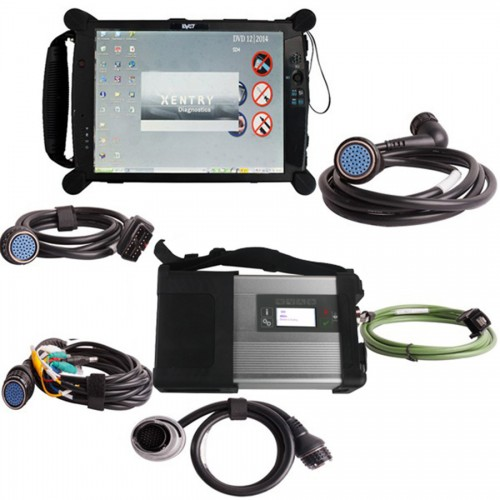 V2018.9 MB SD C4/C5 Diagnosis with EVG7 DL46/DDR2GB Tablet PC