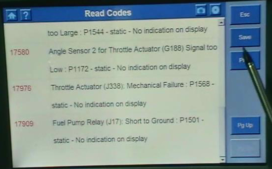 DS708 Trouble Codes